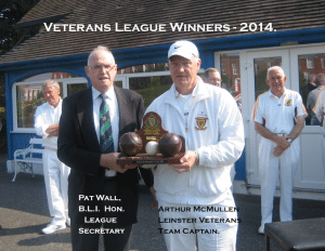 Pat Wall presents Trophy to Arthur McMullen