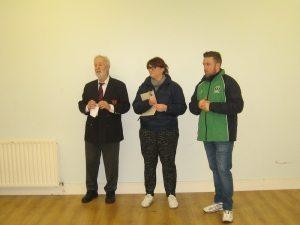 Lorcan Finn, Sarah Kelly, Robert Maher.