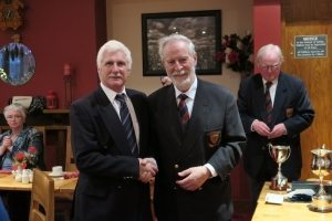 Dermot receives Runners-Up prize from President Lorcan Finn