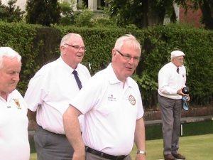Charlie Miller, Neville Lamont, Robert Madden Pres. IBA., Jim Campbell.