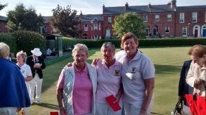 Margaret, Pat & Mary after their winning match.