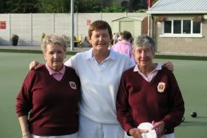 Ladies' Senior Championship Singles. R/u Margaret Hanrahan, Marker Mary Kenny, Winner Pat MacDonagh.