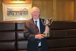 Leinster Cpt. Ron Prince with the Winners Trophy